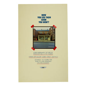 Peter Mitchell - Now You See Them Soon You Wont - Exhibition Poster Print