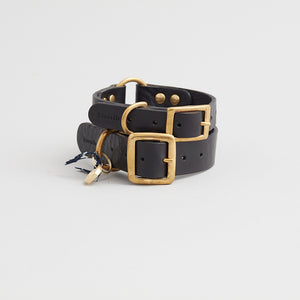 kintails leather dog collar black group image