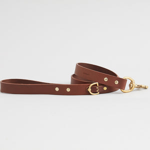 kintails leather dog lead brown standard