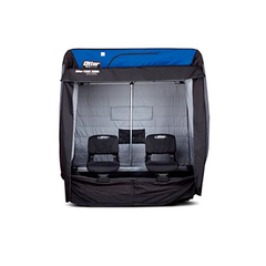 "Otter 650XT Cabin Package Specifications    - Cottage: (1-2 Man)    - Setup Dimensions: 54""L x 79""D x 65""H   - Collapsed Dimensions: 54""L x 34""D x 21.5""H   - Weight: 80 lbs."