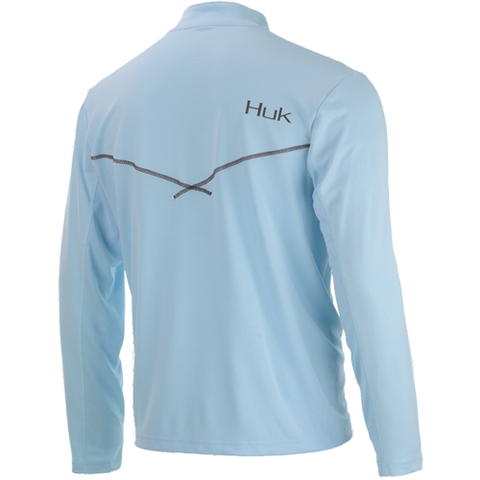 Huk Icon 1/4 Zip Carolina Blue