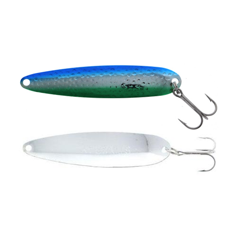 Michigan Stinger Stingray Spoons Silver Dolphin 4-1/4""