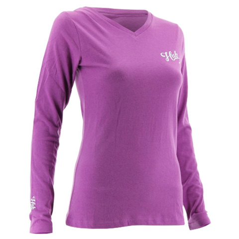 Huk Womens Long Sleeve Logo Tee Shirt