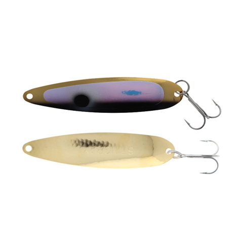Michigan Stinger Stingray Spoons Gold UV Black Tux 4-1/4""