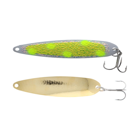 Michigan Stinger Stingray Spoons Gold Yellow Frost UV 4-1/4""