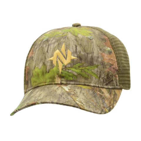 Nomad N Mark Camo Stretch Trucker cap Mossy Oak Obsession