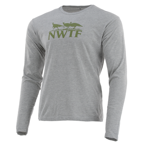 Nomad NWTF Turkey Tracks Long Sleeve Tee Shirt