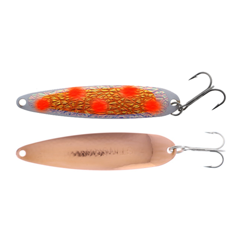 Michigan Stinger Spoon Standard ORANGE FROST UV Copper 3-3/4""