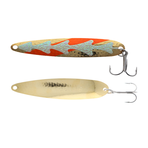 Michigan Stinger Spoon Standard Orange UV HUD Gold 3-3/4""