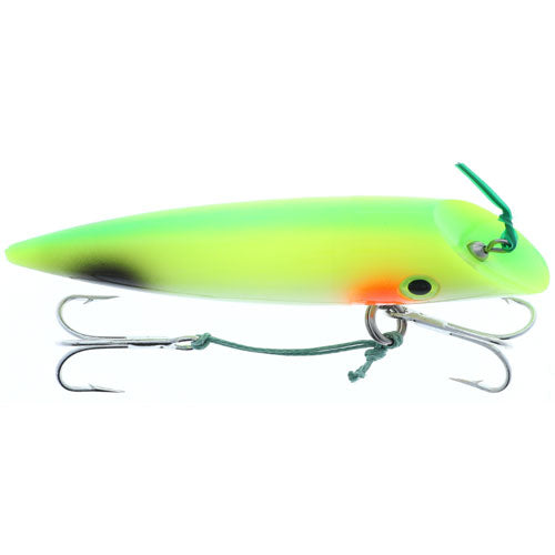 "Silver Horde 4"" W/Rattle Glow Yellow Tail"
