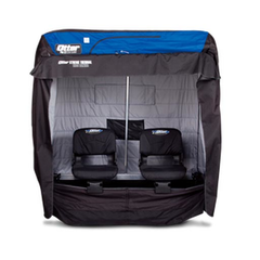 "Otter - XT1200 Cabin Specifications     - Capacity: 2 Man   - Set-Up Size: 66""L x 84""D 70.5""H   - Collapsed Dimensions: 66""L x 36""D x 20""H   - Weight: 103 lbs."