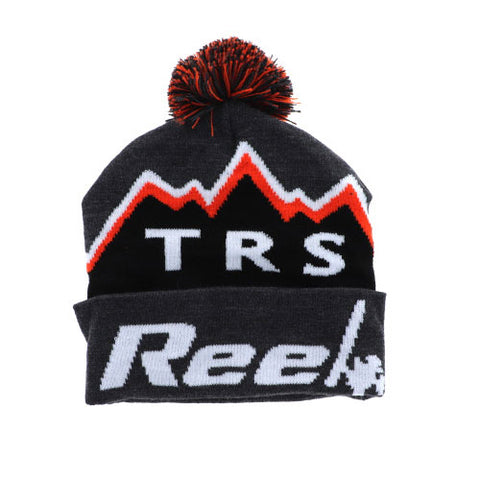 TRS Orange/Black Beanie W Tassel