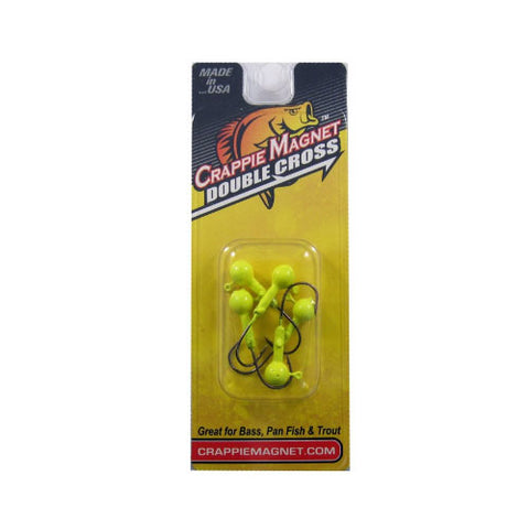 Leland Crappie Magnet Double Cross Jig 5pk