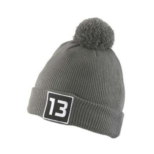 13 Fishing Patch Puff Ball Hat - Gray – The Reel Shot fa5d0010702
