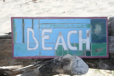 Beach Wooden Sign - Makana Hut