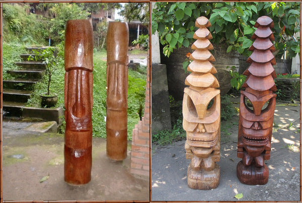 Easter Island and Temple Tiki