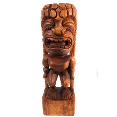 Carved Tiki Makana Hut