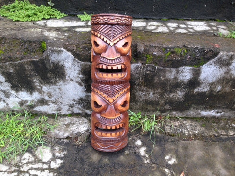 Happy and Prosperity Tiki Mask - Makana Hut