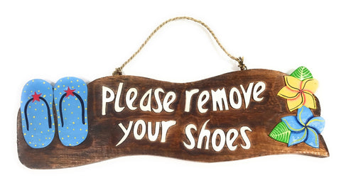 Remove Your Shoes Blue