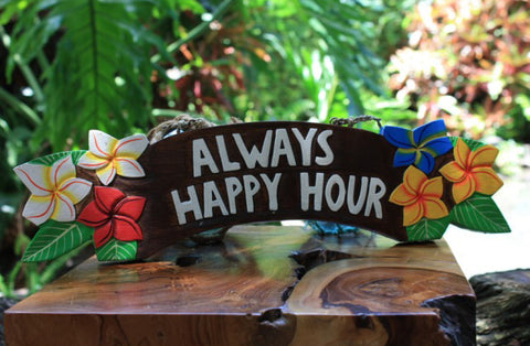 Tiki Bar Sign - Always Happy Hour
