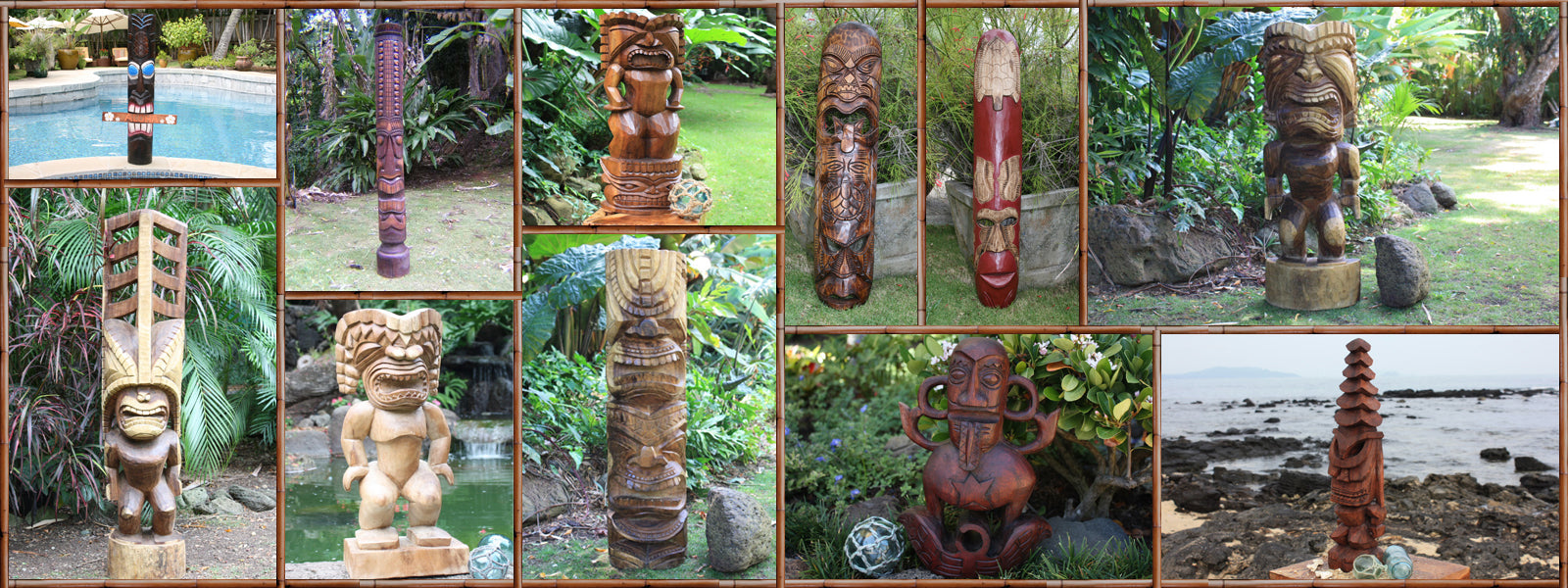Makana Hut Carved Tikis