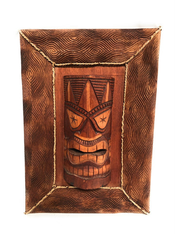 Framed Tiki Mask - Makana Hut
