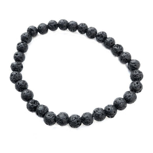 6mm Lava Rock Bracelet - Makana Hut