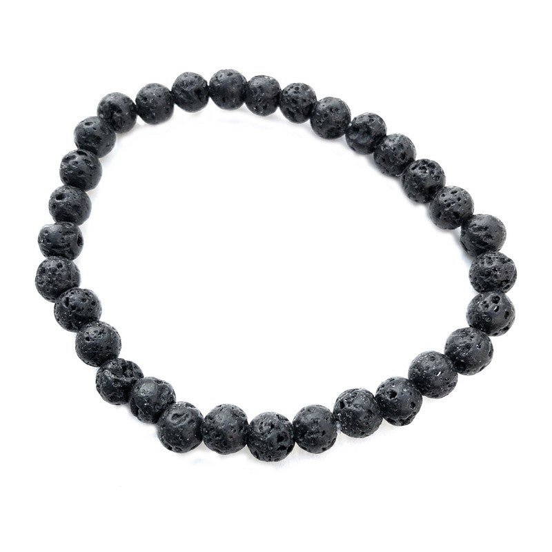 6mm Lava Rock Bracelet