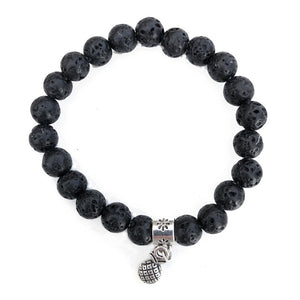 8mm Pineapple Lava Rock Bracelet - Makana Hut