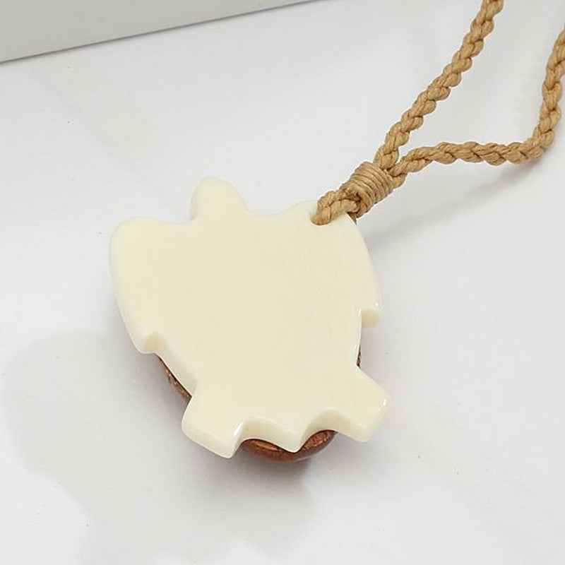 Koa Wood and Bone Honu Necklace