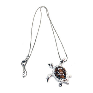 Koa Honu Pendant with Ball Chain - Makana Hut