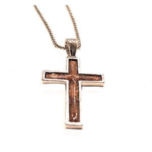 Cross with Koa Wood Inlay | Koa Jewelry