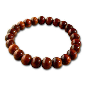 Koa Wood Bead Bracelet 8mm - Makana Hut