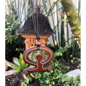Wooden Hawaiian Petroglyph Necklace
