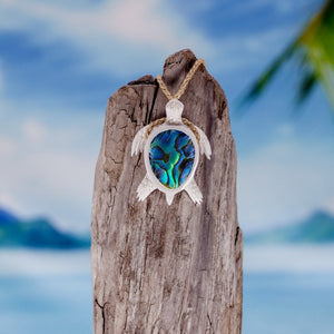 Water Buffalo Sea Turtle w/ Abalone Inlay - Makana Hut