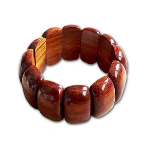 Koa Block Stretch Bracelet | Hawaiian Jewerly - Makana Hut