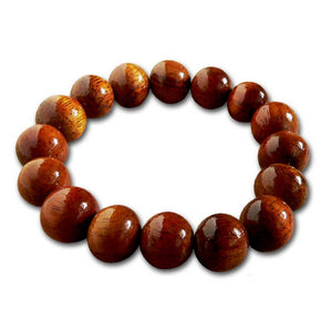 Koa Wood Bead Bracelet 12mm - Makana Hut