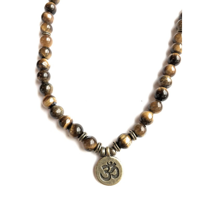 "Tiger Eye ""Om"" Necklace or Bracelet 