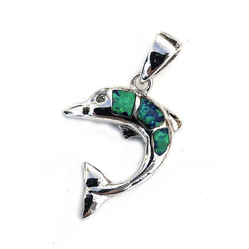 Dolphin with Blue Opal | Pendant