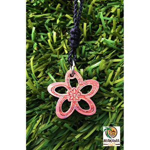 Koa Wood Plumeria Necklace - Makana Hut