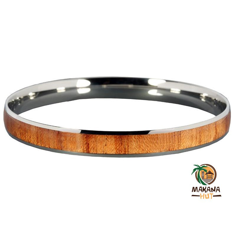 Wood Stainless Steel Bracelet 8mm - Makana Hut
