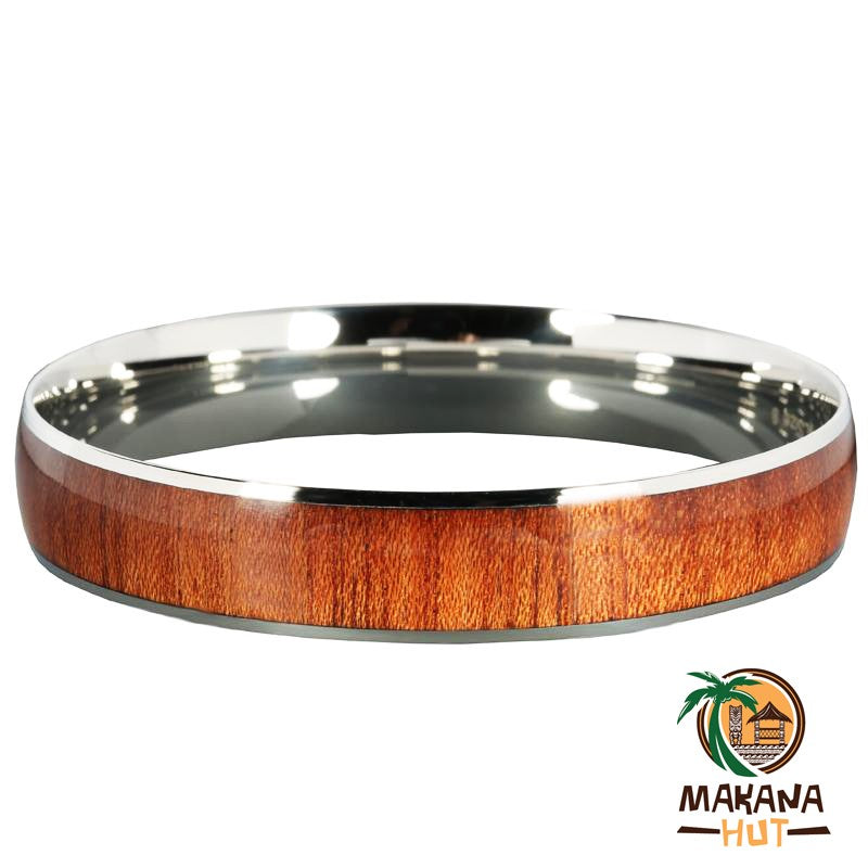 Wood Stainless Steel Bracelet 12mm - Makana Hut