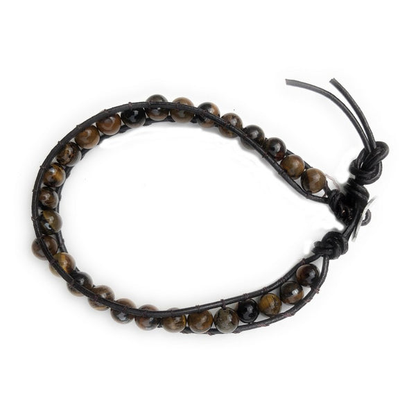 Brown Tiger Eye Beaded Bracelet