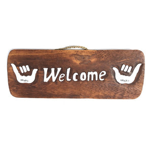 Welcome with Shakas | Tiki Bar Sign - Makana Hut