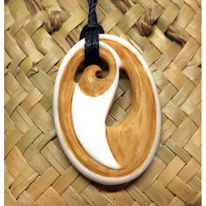Stained Bone Koru | Maori Style - Makana Hut