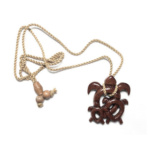 Koa Wood 'Ohana Turtle Necklace