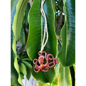 Koa Wood He'e | Octopus Necklace