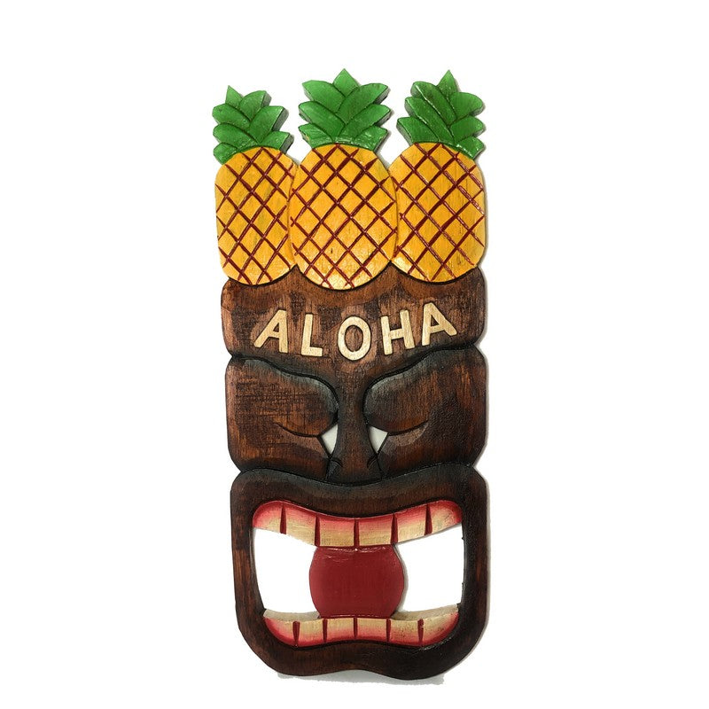 Aloha Sign with Tiki and Pineapples 16""