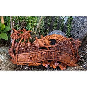 Aloha Sign with Dolphins | Hawaiian Home