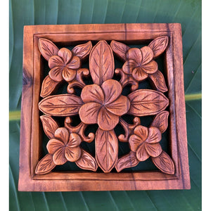 Hawaiian Flower | Wood Hanging Sign